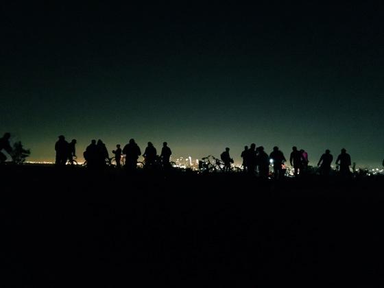 Photo: City Night Shift's third anniversary bike ride @ Helipad in Griffith Park.